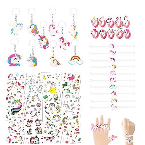SouthStar Licorne Anniversaire, Licorne Porte-Clés ,Licorne Bracelets,Licorne Bagues et Tatouages Temporaires de Licornes pour Un Cadeau de l'anniversaire sur Le Thème Licornes