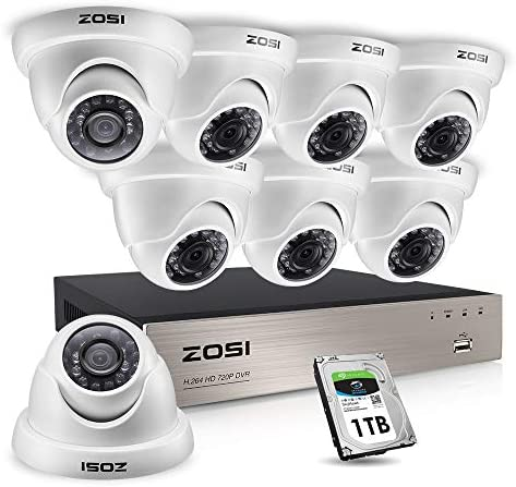 ZOSI 1080p Home Security Cameras System Outdoor Indoor
