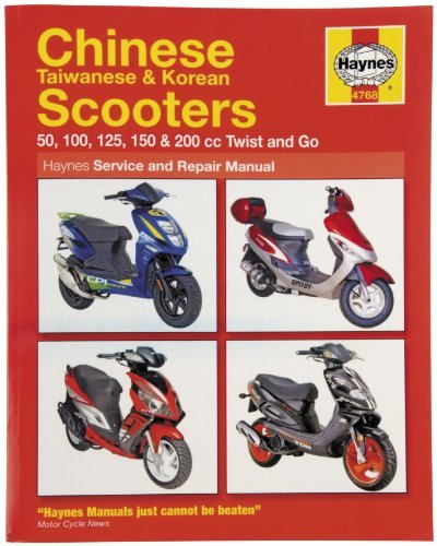 amazon com haynes manuals 2760 manual scooter 50 250cc automotive rh amazon com haynes scooter repair manual free download haynes chinese scooter service & repair manual free download