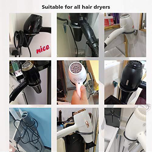 Soporte BeGrit para secador de pelo, plano, para pared de baño