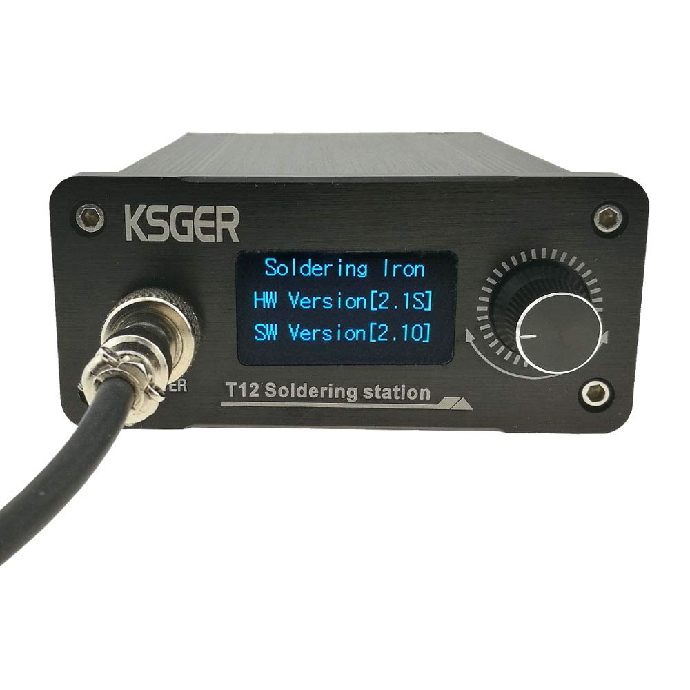KSGER T12 Soldering Station DIY Kits STM32 V2.1S OLED Temperature Controller Electronic Welding Iron Tips Aluminum Alloy FX9501 Handle Case Power Tools K ILS D24