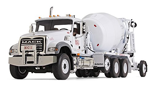 First Gear 1/34 Scale Diecast Collectible Mack Granite with McNeilus Bridgemaster Mixer (10-4116)