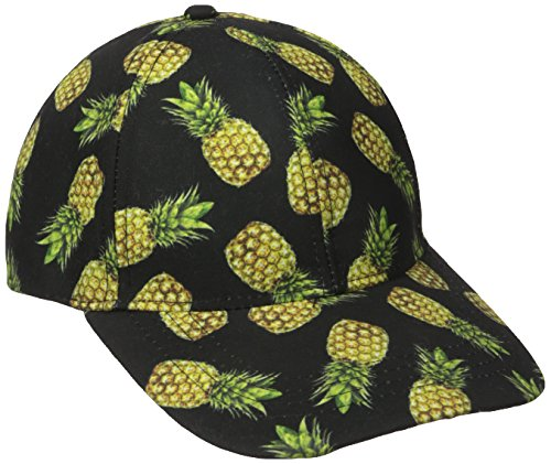 Collection XIIX Women's Pineapple Baseball Cap, Black, One (Collection Baseball)
