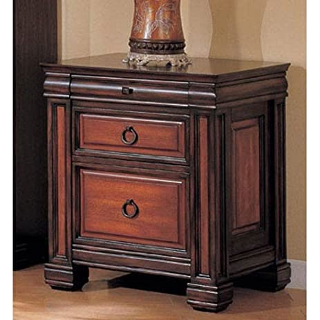 home office file cabinet in dark brown two tone finish
