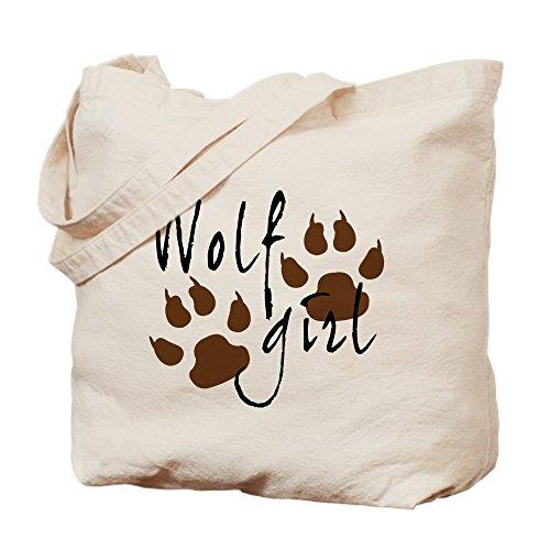 CafePress lobo–chica–Gamuza de bolsa de lona bolsa, bolsa de la compra