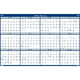 House of Doolittle Laminated Write-On/Wipe-Off Wall Planner, January 2015 to December 2015, 66 x 33 Inches, Vertical or Horizontal, Recycled (HOD3962)