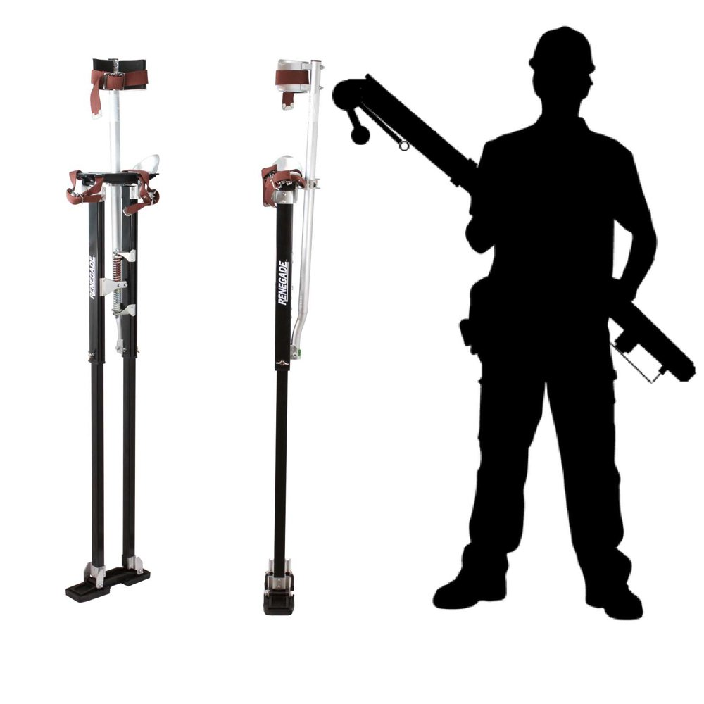Renegade Pro Drywall Stilts - Extra Tall 48''-64'' Inch Adjustable Height by Renegade (Image #2)