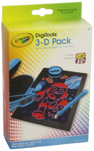 Griffin Crayola DigiTools 3-D Pack - Accessory kit - Blue - for Apple iPad (Best Ipad Games For Kids Under 5)