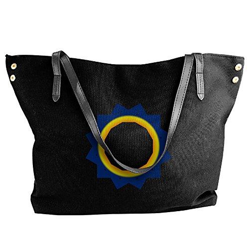 Handbags Gradient Handbags Black Bags Sunset Capacity Hobo Women Large Tote Canvas Black Bags Sunrise Shoulder Circles Fashion vCwdIqw