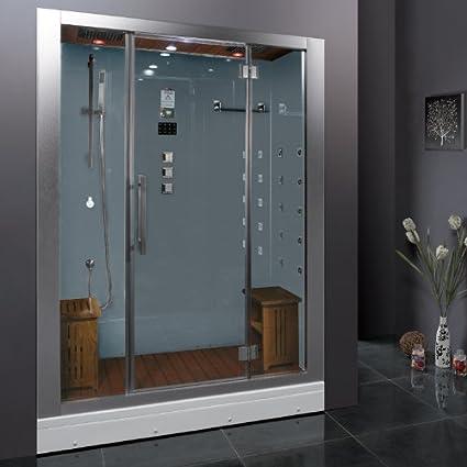 Genial Ariel Platinum DZ972 1F8 W Steam Shower In White 59u0026quot; X 32u0026quot;
