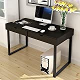 """Product review for Soges Computer Desk with Drawer 47"""" Home Office Desk Sturdy Desk with Two Drawers, Black"""