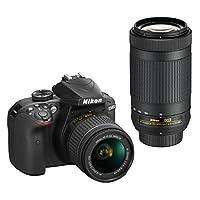 Nikon D3400 Digital Camera w/AF-P DX NIKKOR 18-55mm & 70-300mm Lens Deals