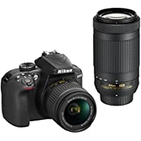 Nikon D3400 DSLR Camera with AF-P DX NIKKOR 18-55mm f/3.5-5.6G VR and AF-P DX NIKKOR 70-300mm f/4.5-6.3G ED