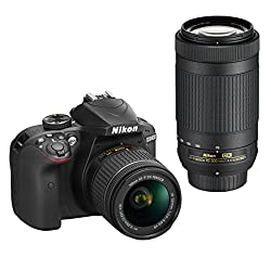 Nikon D3400 Dslr Camera With Af-p Dx Nikkor 18-55mm F3.5-5.6g Vr & Af-p Dx Nikkor 70-300mm F4.5-6.3g Ed