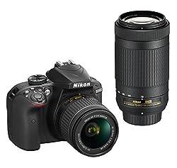 Nikon D3400 Dslr Camera With Af-p Dx Nikkor 18-55mm F3.5-5.6g Vr & Af-p Dx Nikkor 70-300mm F4.5-6.3g Ed