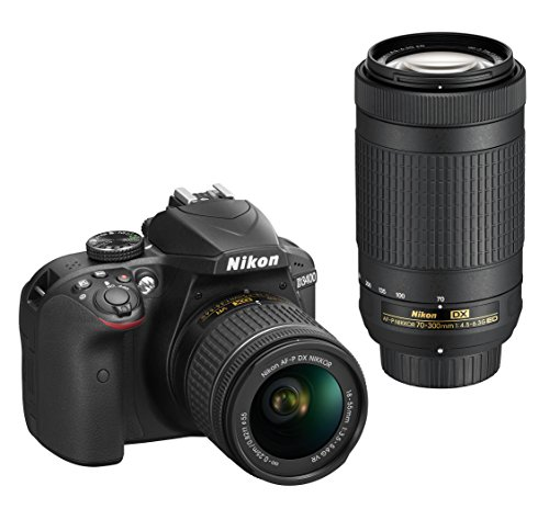 Nikon D3400 DSLR Camera with AF-P DX NIKKOR 18-55mm f/3.5-5.6G VR and AF-P DX NIKKOR 70-300mm f/4.5-6.3G ED 510NOgQOKEL