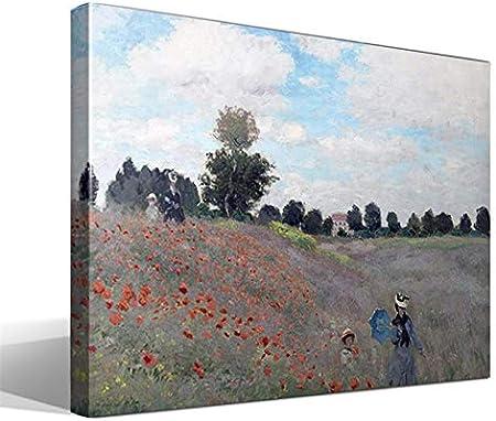 Cuadro Canvas Campo de Amapolas de Oscar Claude Monet