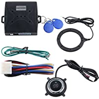 EASYGUARD EC004 Smart Rfid Car Alarm system Push Engine Start stop button & Keyless Go System Fits for most DC12V cars
