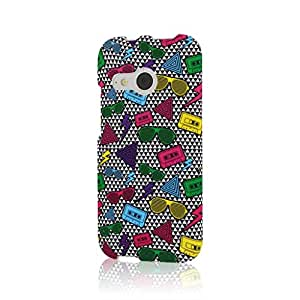 MPERO SNAPZ Series Rubberized Case Carcasa para HTC One Mini 2 / One Remix - Neon 90's