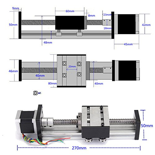MINI linear stages-Linear actuator travel 40mm motor