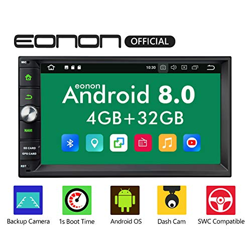 Double Din Car Stereo DVD Player,Android Car Stereo,Android 8.0 Car Stereo Radio 4GB+32GB with GPS and WiFi,Support Fastboot, Backup Camera with Sub Output,7 Inch Touch Screen(NO DVD/CD)-GA2170