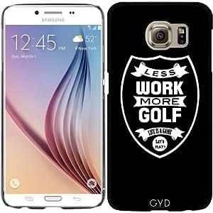 Funda para Samsung Galaxy S6 (SM-G920) - Menos Trabajo Más Golf by wamdesign