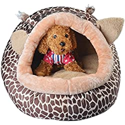 Ecurson Collapsible Indoor Pet Dog Puppy Cat Warm House Bed Shelter Cozy Nest Mat