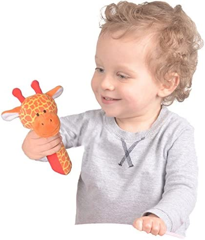 X2 Cute Baby Rattle and Squeak Easy Grip Baby Toy Baby Activity Soft Toys UK