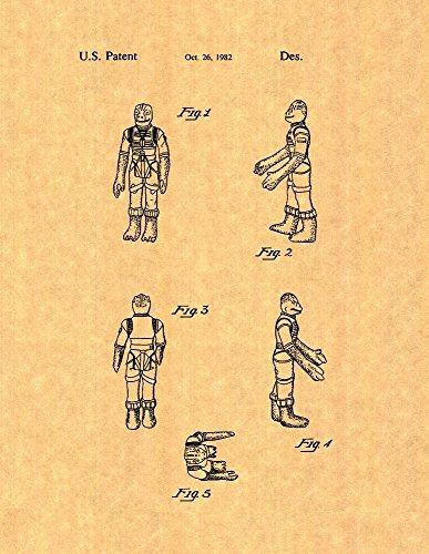 "FRAMEaPatent Star Wars Bossk Patent Art Print Poster (8.5"" x 11"")"