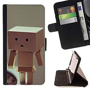 For Samsung Galaxy S3 III I9300 - Funny Box Man /Funda de piel cubierta de la carpeta Foilo con cierre magn???¡¯????tico/ - Super Marley Shop -
