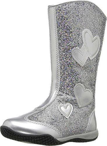 W6YZ Baby Girl's Patsy 2 (Toddler/Little Kid) Silver Glitter Flat