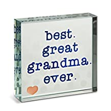 """Pavilion Gift Company 14150 Best Great Grandma Ever Glass Plaque, 3 x 3"""""""