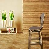 Fine Mod Imports Wooden Bar Chair, Walnut