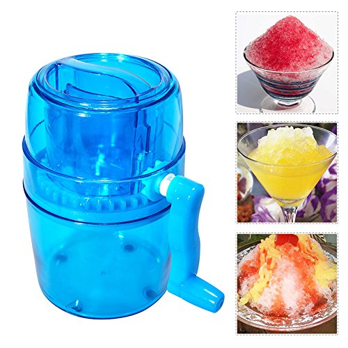 (Yunhigh Ice Crusher, Manual Ice Crusher Hand Crank Ice Grinder Portable Handheld Ice Shaver Machine Maker Blender Home Use for Snow Cones Frozen Drinks Smoothie)