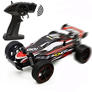 FSTgo Fast RC Cars Off Road 1:20 2WD Remote Control Trucks for Adults Radio Controlled Drift Race Buggy Hobby Car (Red)