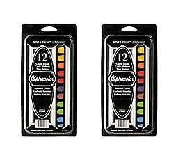 Quartet Alphacolor Chalk Sticks, Assorted Colors, 8 Colors, 12 Pack