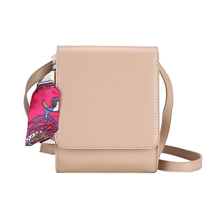 d0af6e087 Bolso de Hombro Mujer Bolsos de Cadenas Cintas Color SóLidas Decorecion  Bolsa de Crossbody TeléFono: Amazon.es: Ropa y accesorios