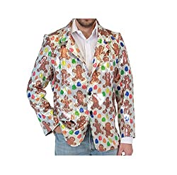 Sequin Gingerbread Man Ugly Christmas Jacket