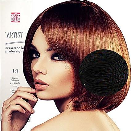Tinte profesional para el cabello, colores naturales, con amoniaco 5 X 5 X 15 1/0 NERO