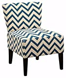 Small Accent Chairs Ashley Furniture Signature Design - Ravity Accent Chair - Contemporary - Chevron Pattern - Blue