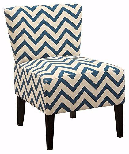 Ashley Furniture Signature Design – Ravity Accent Chair – Contemporary – Chevron Pattern – Blue