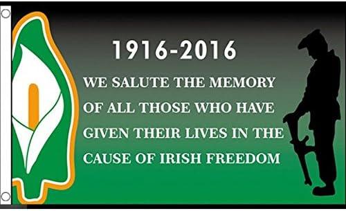 国旗 アイルランド イースター 復活祭蜂起 1916年 特大フラッグ【ノーブランド品】
