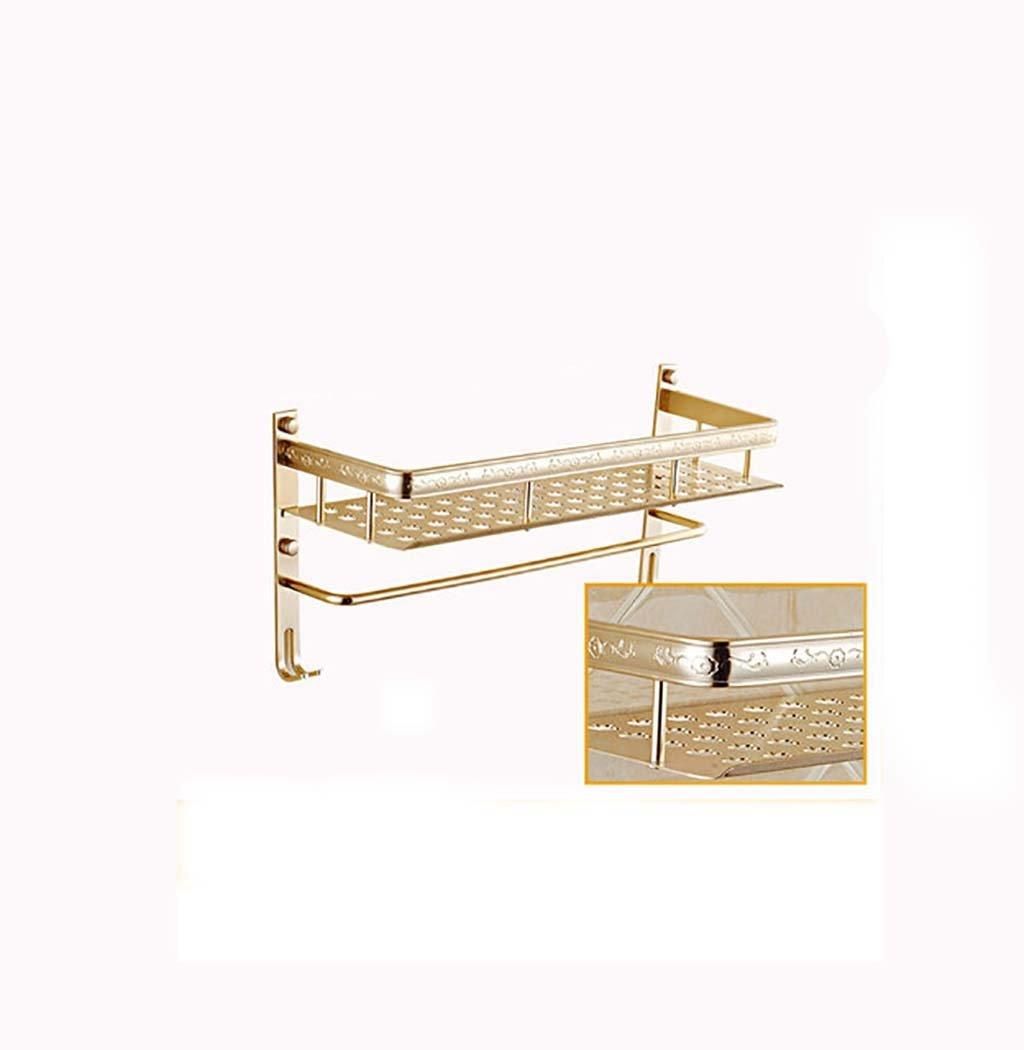 タオル掛け タオルラック彫刻されたスペースアルミのバスルームの棚1つの床シングルロッドは、常に穴の開いたインストール(40センチメートル、50センチメートル、60センチメートル) タオルスタンド (サイズ さいず : 40 cm 40 cm) B07DWY1BSK 40 cm 40 cm 40 cm 40 cm
