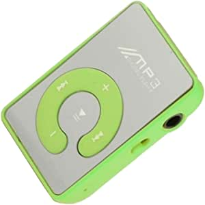 KESOTO MP3 Player Compact and Portable Music Media Player with Fashion Clip Mirror MP3 for Sport Runing Earbud Headphones for SD TF Card - Green
