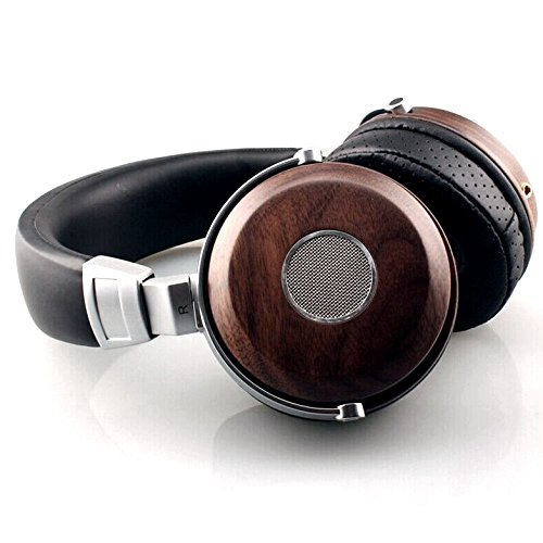 LEGACY Handmade Wooden Music Headphones Natural Audio Over Head Set Best Fitting(Walnut)