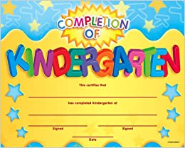 Completion of kindergarten fit in a frame award fit in a frame flip to back flip to front yelopaper Choice Image