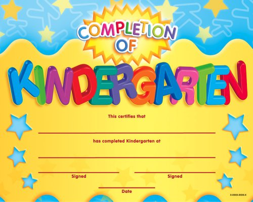 Completion of kindergarten fit in a frame award fit in a frame completion of kindergarten fit in a frame award fit in a frame awards school specialty publishing 9780768230802 amazon books yelopaper Choice Image