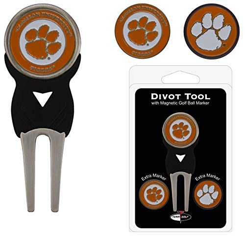 Clemson University Golf Divot Tool w/ Three Double Sided Ball Ma