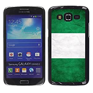Slim Design Hard PC/Aluminum Shell Case Cover for Samsung Galaxy Grand 2 SM-G7102 SM-G7105 National Flag Nation Country Nigeria / JUSTGO PHONE PROTECTOR