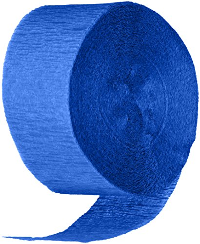 Cindus Crepe Streamers, 1.75-Inch by 81-Feet, Royal Blue